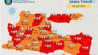Covid 19 di Jatim Tambah Parah, 20 Kabupaten/Kota Masuk Zona Merah