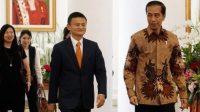 Jack Ma hilang misterius sampai sekarang belum ada kabarnya. Foto Jack Ma ketika berkunjung ke Indonesia disambut Presiden Joko Widodo
