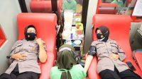 Polwan Polres Kediri Datangi PMI Untuk Donor Darah