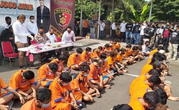 64 Preman di Jatim, Dilaporkan Sudah tertangkap