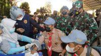 Kodam V/Brawijaya Sasar  Ribuan Pelajar di Mojokerto Untuk Vaksinasi
