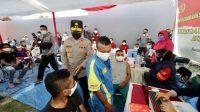 Ratusan Warga Papua Ikuti Vaksinasi Merdeka di Surabaya