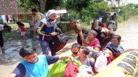 banjir akibat hujan selama 8 jam tenggelamkan 24 desa di wilayah Madiun