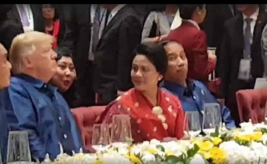 Istri Jokowi didekati Donald Trump