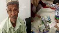 Kakek Pengemis Beli Emas 28 Gram Pakai Uang Receh Sebanyak 2 Karung