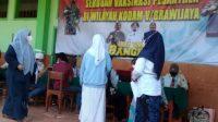 Ratusan Santri di Kota Surabaya Serbu Dapat Vaksinasi dari Kodam Brawijaya