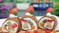 Dessert Simpel Fruit Sushi Roll, Pakai Tepung Premix Sesuai Takaran